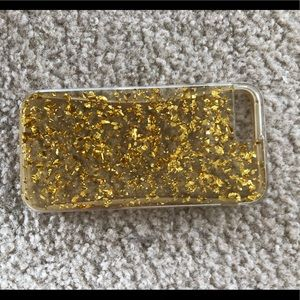 Other - Gold flake iPhone 6 case